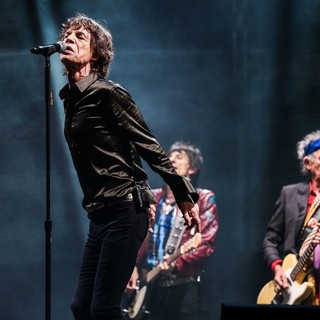 Mick Jagger, Ronnie Wood, Keith Richards, The Rolling Stones in The 2013 Glastonbury Festival