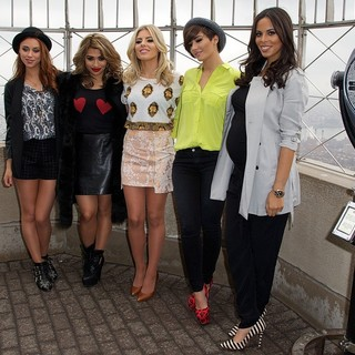 The Saturdays, Una Healy, Vanessa White, Mollie King, Frankie Sandford, Rochelle Wiseman in The Saturdays Promoting Chasing The Saturdays