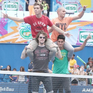 Nathan Sykes, Jay McGuiness, Max George, Siva Kaneswaran, The Wanted in Arthur Ashe Kids Day 2012