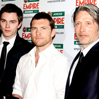 Nicholas Hoult, Sam Worthington, Mads Mikkelsen in The Empire Film Awards 2010