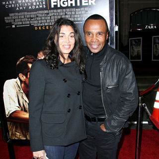 "Bernadette Robi, Sugar Ray Leonard in Los Angeles Premiere of ""The Fighter"""