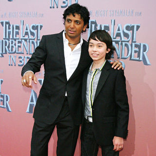 M. Night Shyamalan, Noah Ringer in Premiere of 'The Last Airbender' - Arrivals
