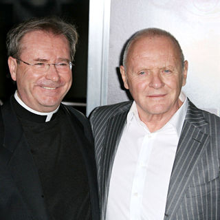 "Father Gary Thomas, Anthony Hopkins in Los Angeles Premiere of Warner Bros' ""The Rite"""