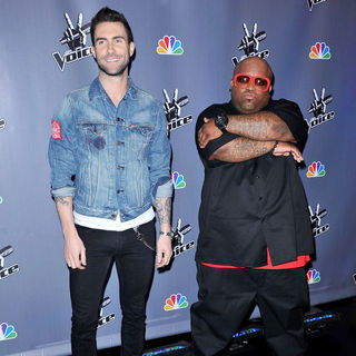 Adam Levine, Cee-Lo in NBC Press Junket for 'The Voice'