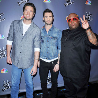 Blake Shelton, Adam Levine, Cee-Lo in NBC Press Junket for 'The Voice'