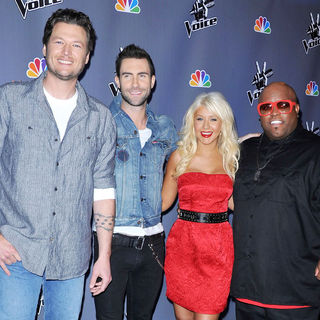 Blake Shelton, Adam Levine, Christina Aguilera, Cee-Lo in NBC Press Junket for 'The Voice'