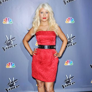 Christina Aguilera in NBC Press Junket for 'The Voice'
