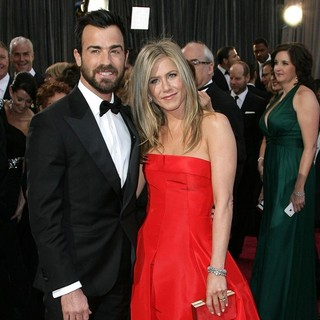 Justin Theroux, Jennifer Aniston in The 85th Annual Oscars - Red Carpet Arrivals