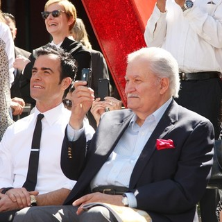 Justin Theroux, John Aniston in Jennifer Aniston Is Honored with A Star on The Hollywood Walk of Fame