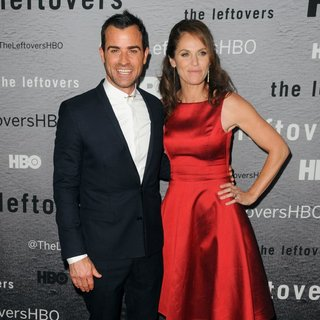 Justin Theroux, Amy Brenneman in The Leftovers New York Premiere - Red Carpet Arrivals