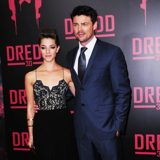 Olivia Thirlby, Karl Urban in Dredd New York Screening