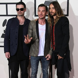 30 Seconds to Mars in The 56th Annual GRAMMY Awards - Arrivals