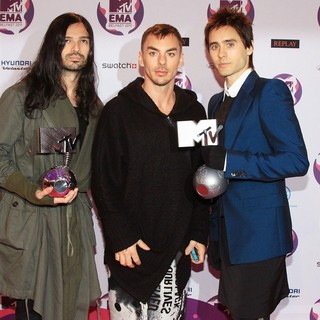 30 Seconds to Mars in The MTV Europe Music Awards 2011 (EMAs) - Press Room