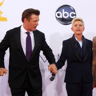 Hilaria Thomas, Alec Baldwin, Ellen DeGeneres, Portia de Rossi in 64th Annual Primetime Emmy Awards - Arrivals