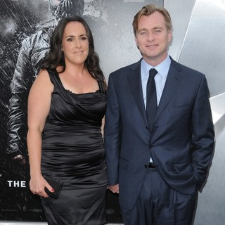 Emma Thomas, Christopher Nolan in The Dark Knight Rises New York Premiere - Arrivals