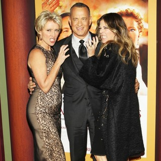 Emma Thompson, Tom Hanks, Rita Wilson in Saving Mr. Banks Los Angeles Premiere