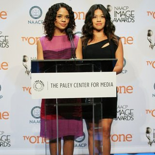 Tessa Thompson, Gina Rodriguez in 46th NAACP Image Awards - Nomination Announcement and Press Conference