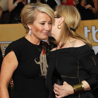 Emma Thompson, Meryl Streep in The 20th Annual Screen Actors Guild Awards - Arrivals