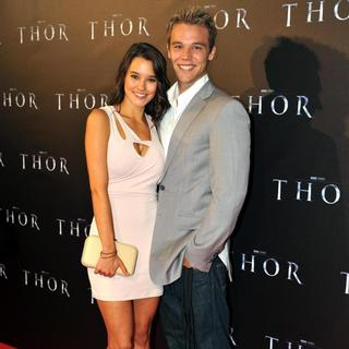 Rhiannon Fish, Lincoln Lewis in Australian Premiere of 'Thor' at Even Cinemas George St.