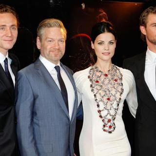 Tom Hiddleston, Kenneth Branagh, Jaimie Alexander, Chris Hemsworth in Australian Premiere of 'Thor' at Even Cinemas George St.