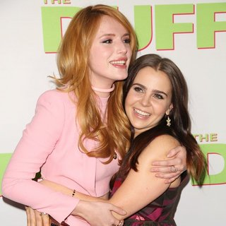 Bella Thorne, Mae Whitman in Los Angeles Fan Screening of The DUFF - Red Carpet Arrivals