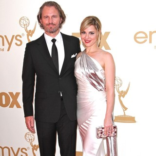 Peter Thum, Cara Buono in The 63rd Primetime Emmy Awards - Arrivals