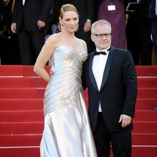 Uma Thurman, Thierry fremaux in 66th Cannes Film Festival - Zulu - Premiere