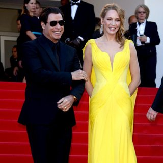 John Travolta, Uma Thurman in The 67th Annual Cannes Film Festival - Clouds of Sils Maria - Premiere Arrivals