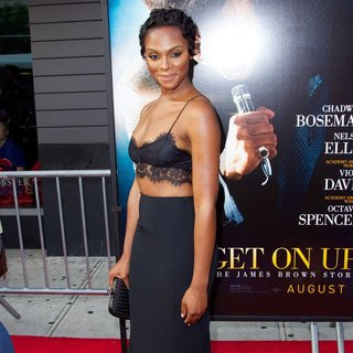 Tika Sumpter in New York Premiere of Get on Up - Red Carpet Arrivals