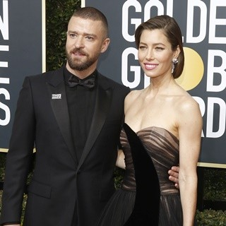 Justin Timberlake, Jessica Biel in 2018 Golden Globe Awards - Arrivals