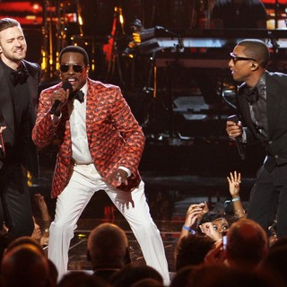 Justin Timberlake, Charlie Wilson, Pharrell Williams in The 2013 BET Awards - Inside