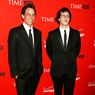 Seth Meyers, Andy Samberg in 2010 TIME 100 Gala