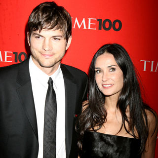 Ashton Kutcher, Demi Moore in 2010 TIME 100 Gala