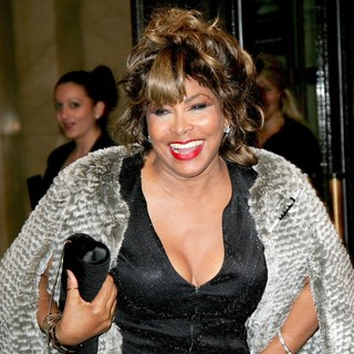 Tina Turner in The Armani Haute Couture Spring-Summer 2010 Fashion Show
