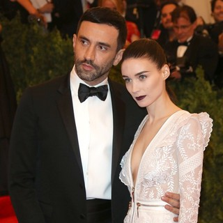 Riccardo Tisci, Rooney Mara in PUNK: Chaos to Couture Costume Institute Gala