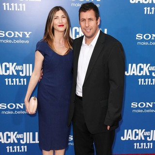 Jackie Titone, Adam Sandler in Premiere of Jack and Jill