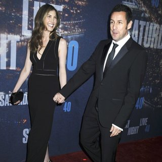 Jackie Titone, Adam Sandler in Saturday Night Live 40th Anniversary Special - Red Carpet Arrivals