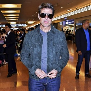 Tom Cruise Arrive at Tokyo International Airport