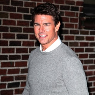 Tom Cruise in The Late Show with David Letterman - Arrivals