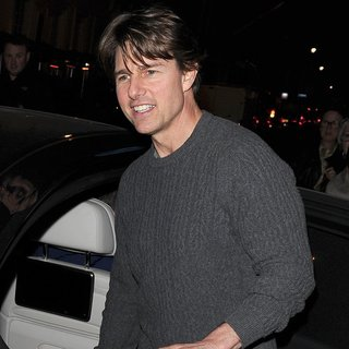 Tom Cruise Out Leaving A Post Production Office in Soho