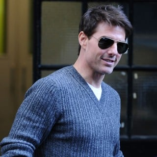 Tom Cruise in Tom Cruise Leaving An Office Building