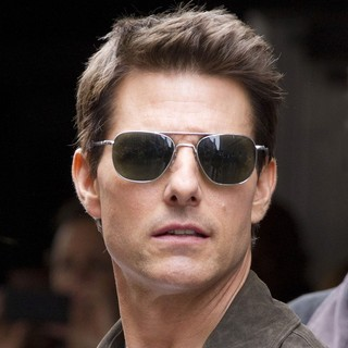 Tom Cruise in Filming on The Set of Oblivion