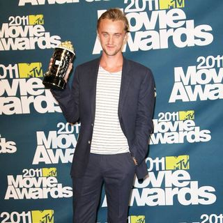 Tom Felton in 2011 MTV Movie Awards - Press Room