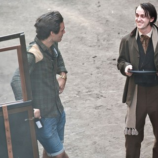 Actors on The Set of Therese Raquin Filming on Location