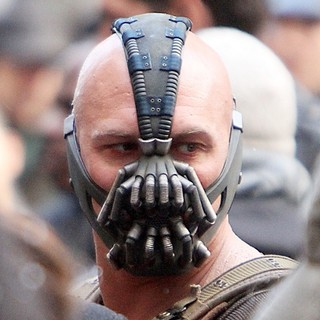 Tom Hardy in On The Batman Movie Set of The Dark Knight Rises