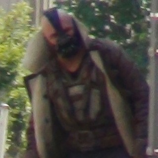 Tom Hardy in The Dark Knight Rises Filming