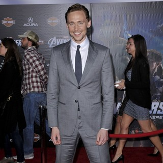 Tom Hiddleston in World Premiere of The Avengers - Arrivals