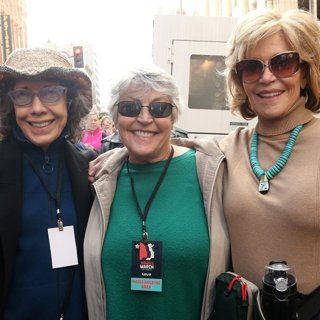Lily Tomlin, Helen Reddy, Jane Fonda in Women's March