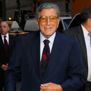 Tony Bennett in Celebrities Arrive at The Ed Sullivan Theater for The Late Show with David Letterman
