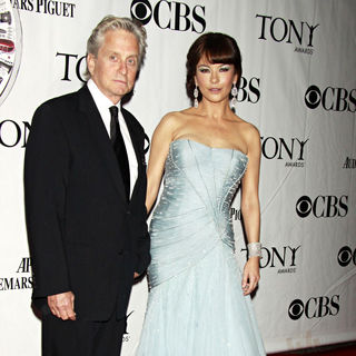 Michael Douglas, Catherine Zeta-Jones in The 64th Tony Awards - Arrivals